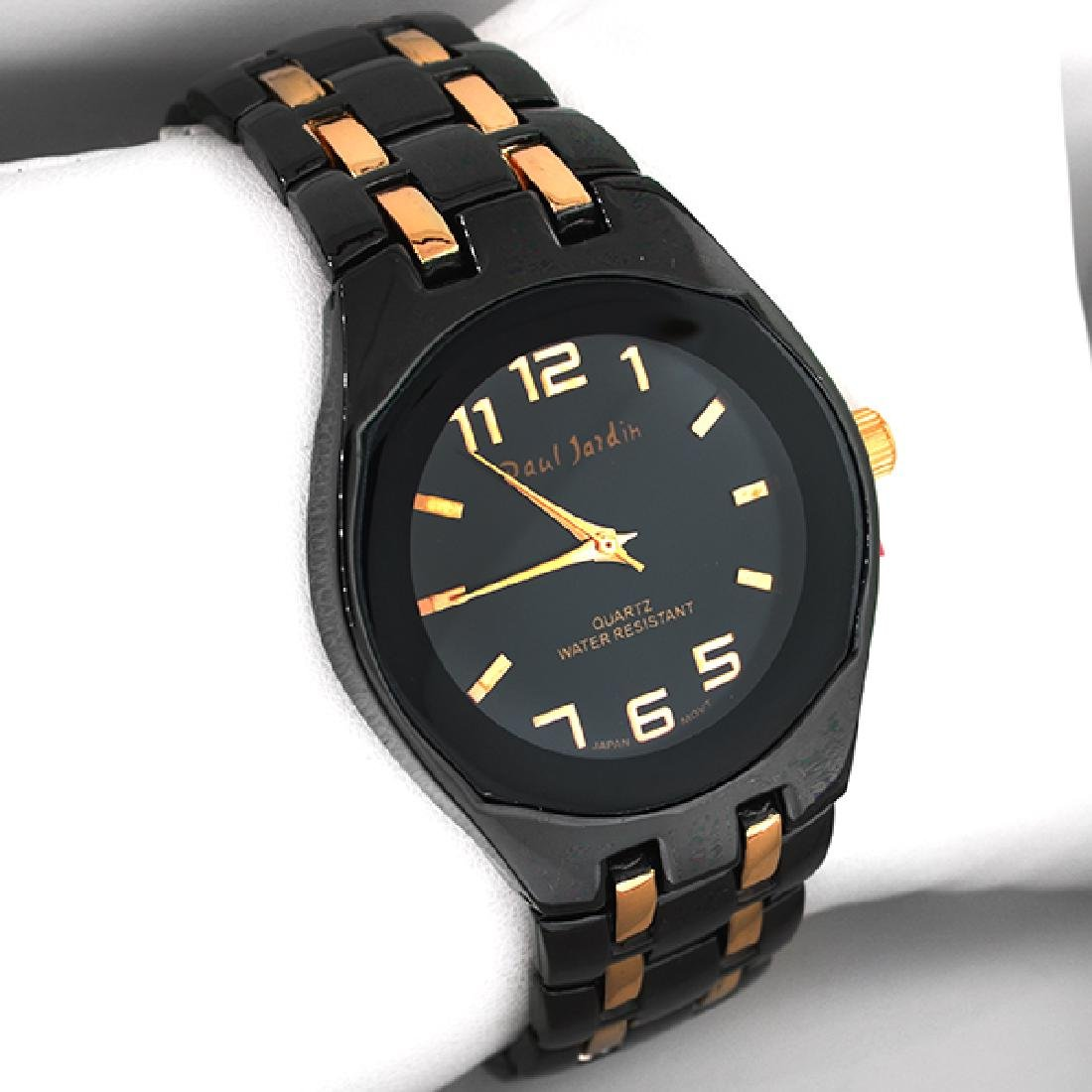 Paul Jardin  Men's Black and Copper Watch