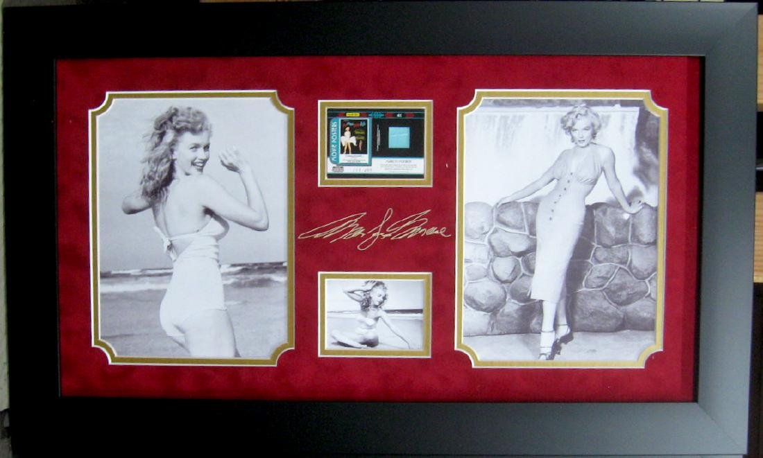 Engraved Marilyn Monroe Signature With Real Swatch of