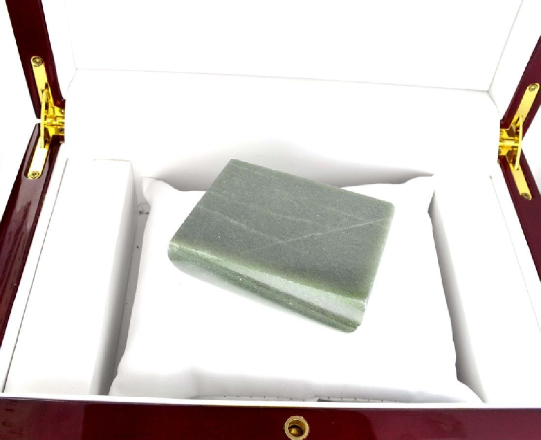 APP: 10.6k 888.00CT Rectangle Cut Green Guatemala Jade