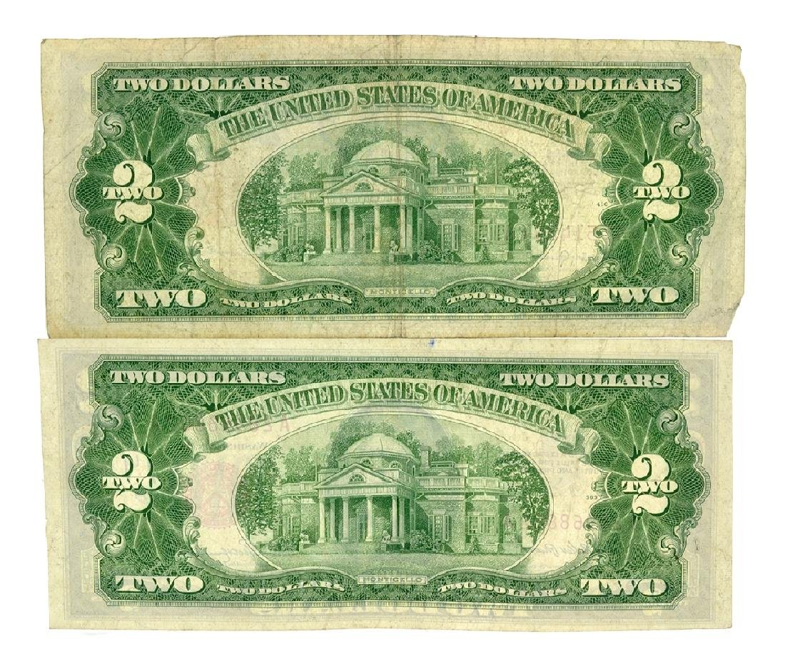 (2) 1953 $2 U.S. Red Seal Notes - 2