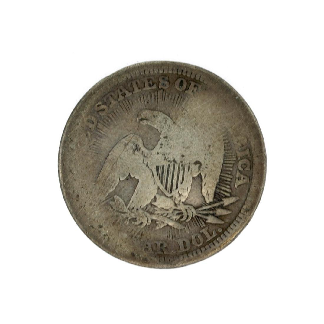 1853 Liberty Seated Arrows At Date, Rays Around Eagle - 2