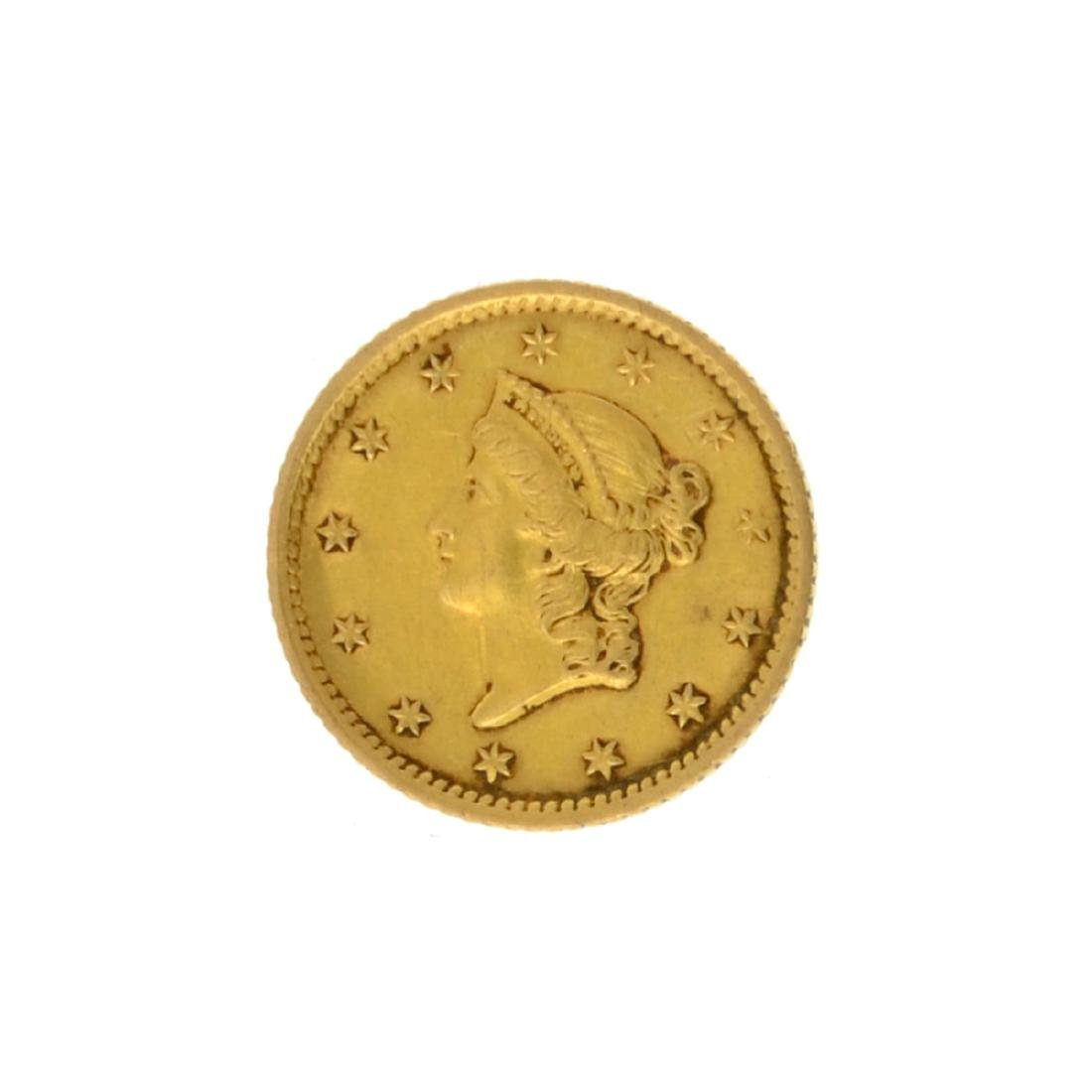 1854 $1 Liberty Head Gold Coin