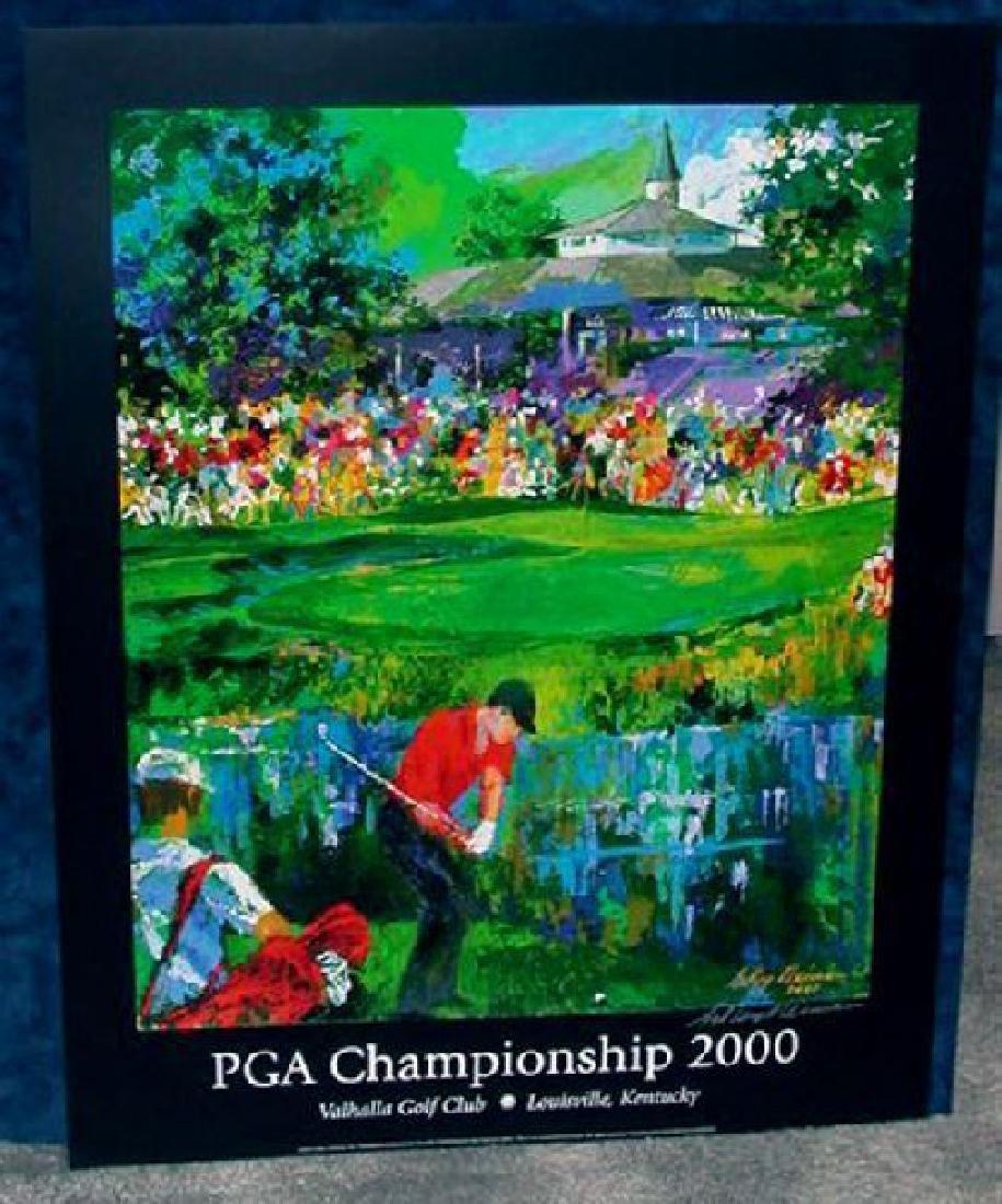 Hand Signed LeRoy Neiman: 2000 PGA Championship