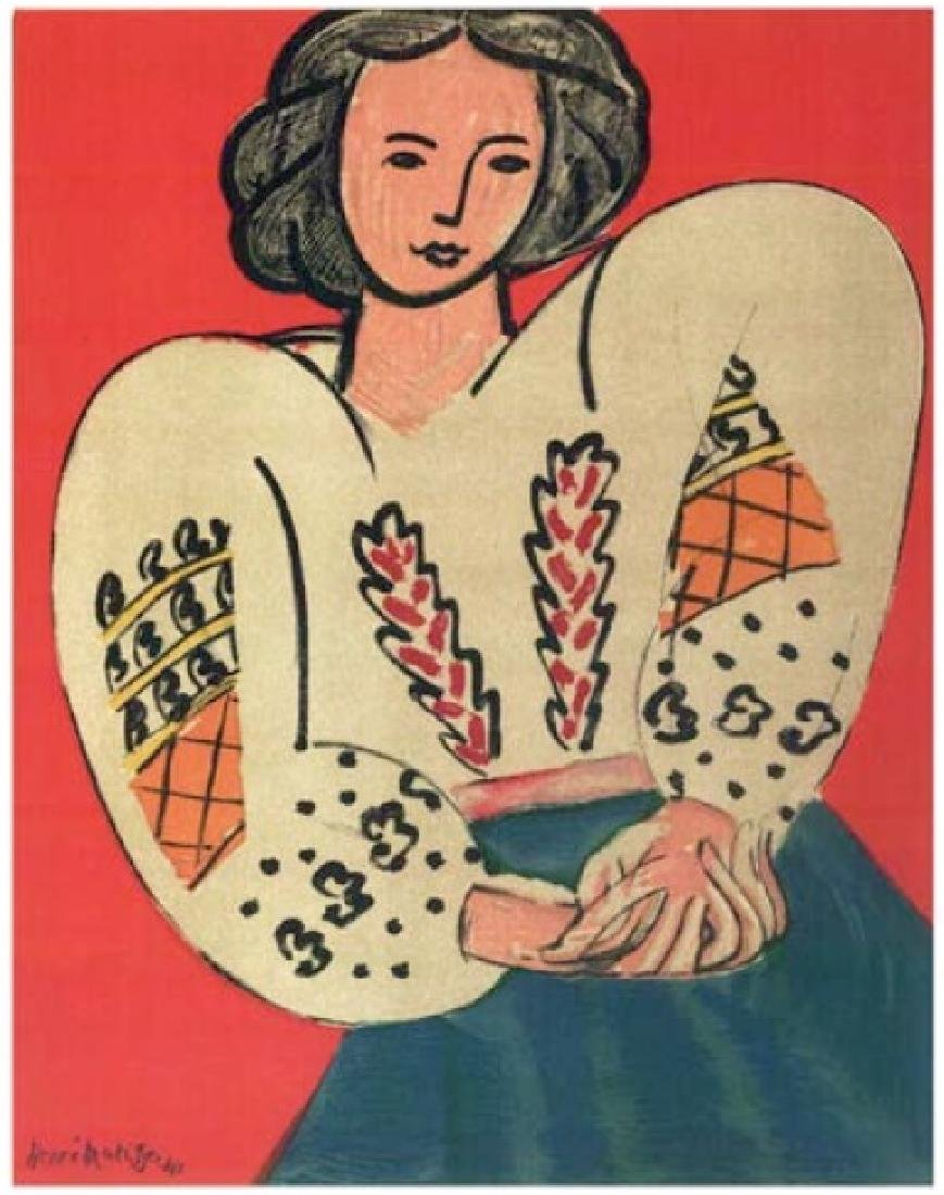 Henri Matisse ''''141 Mme M.P. The Rumanian Blouse''''
