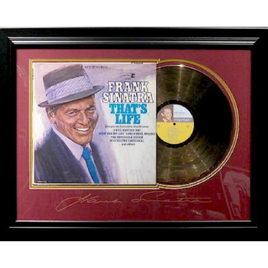 Frank Sinatra Engraved with Gold Album
