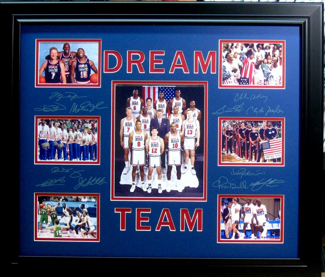 Basketball ''Dream Team'' Engraved Signatures