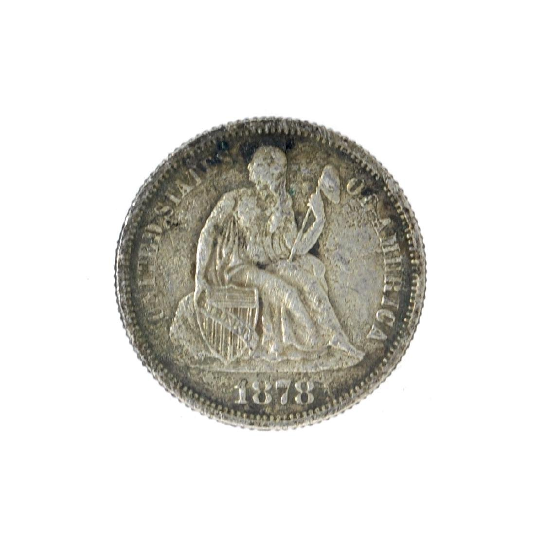 1878 Liberty Seated Dime Coin