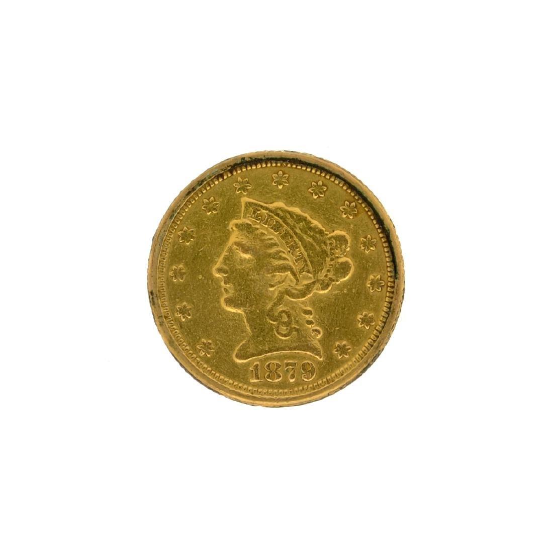 *1879 $2.5 Liberty Head Gold Coin (DF)