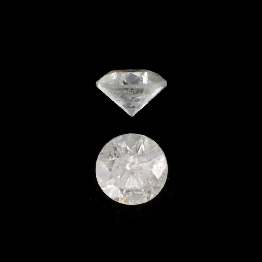 APP: 0.4k 0.15CT Round Brilliant Cut Diamond Gemstone