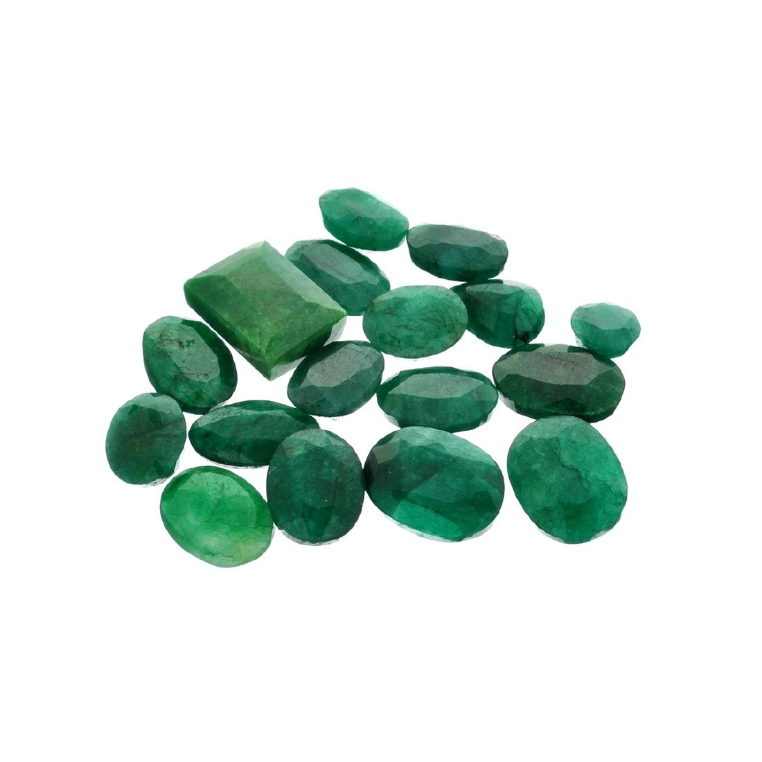 APP: 7.6k 101.21CT Various Shapes Green Emeral Parcel-