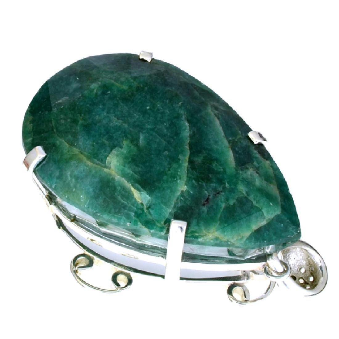 Fine Jewelry Designer Sebastian 401.80CT Pear Cut Green