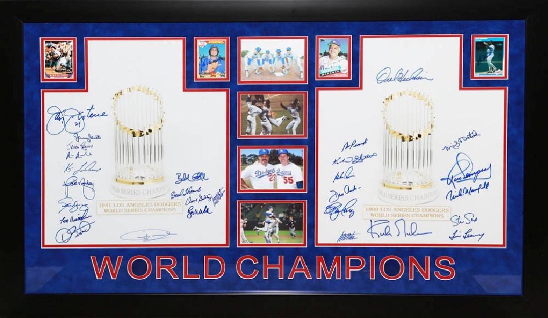 1981 & 88 Dodges World Champion Signature Collage