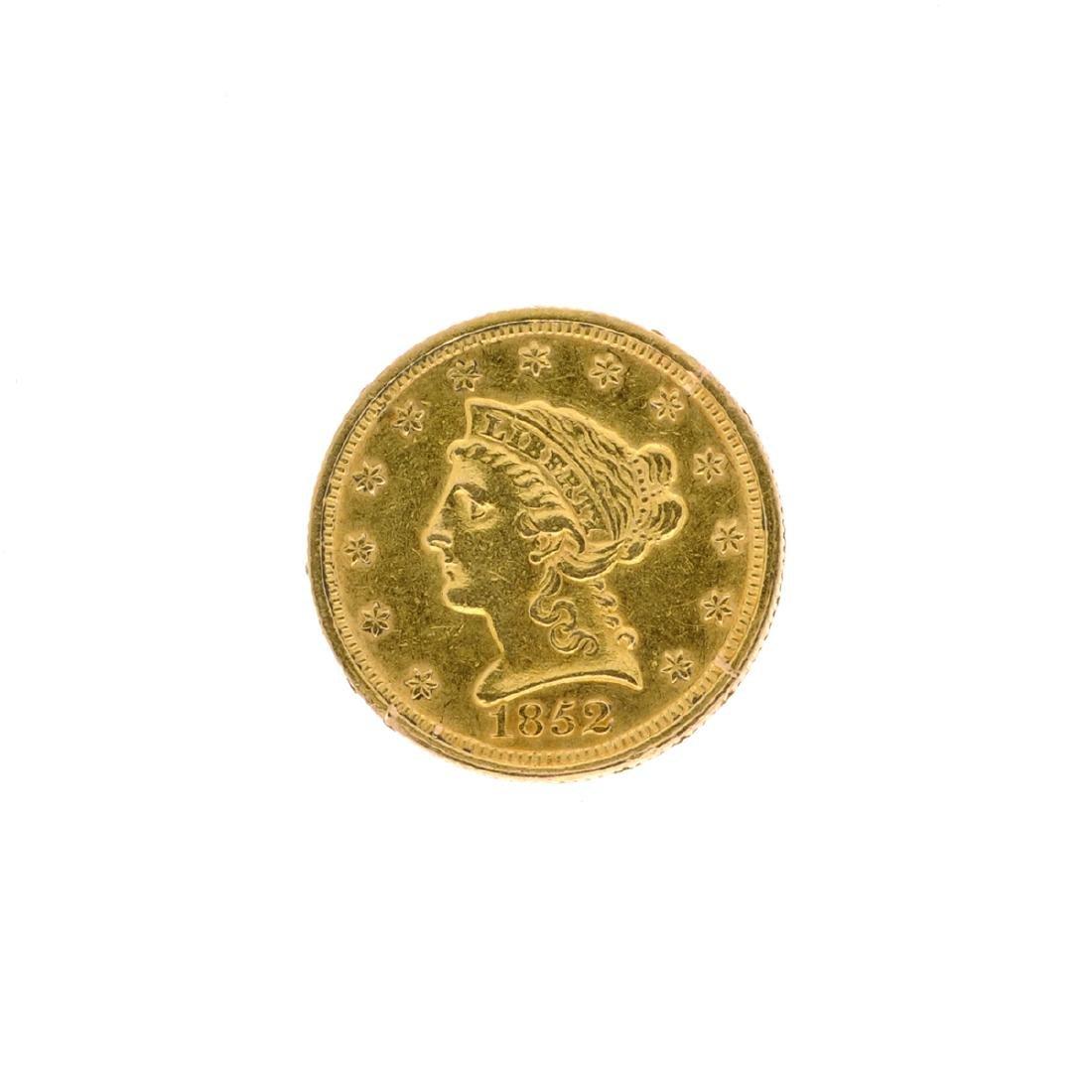 1852 $2.50 U.S. Liberty Head Gold Coin