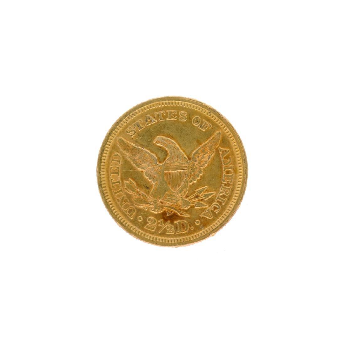 1852 $2.50 U.S. Liberty Head Gold Coin - 2