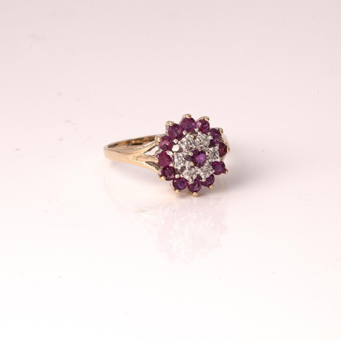 *Fine Jewelry 14 kt. Gold, New Custom Made 1.00CT Ruby