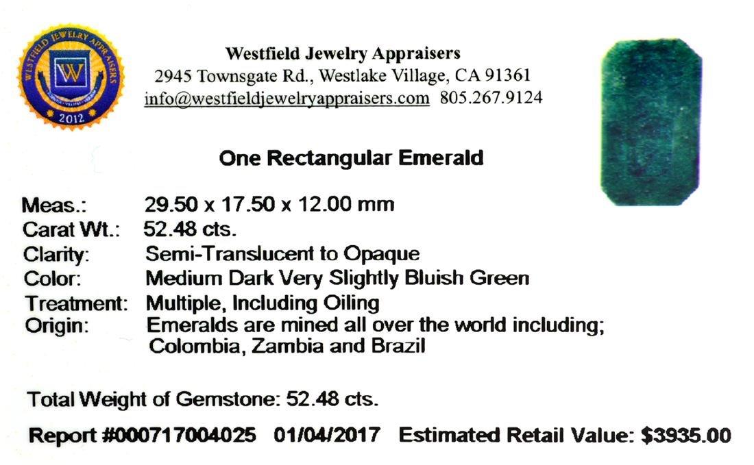 APP: 3.9k 52.48CT Rectangular Cut Green Emerald - 2
