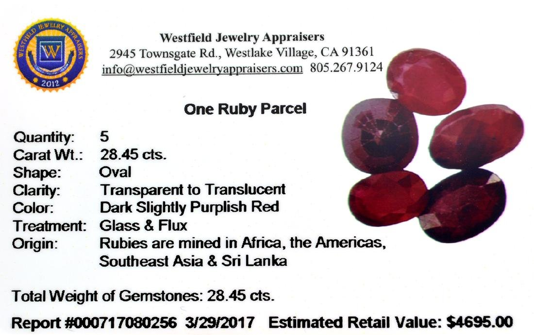 APP: 4.7k 28.45CT Oval Cut Ruby Parcel - 2