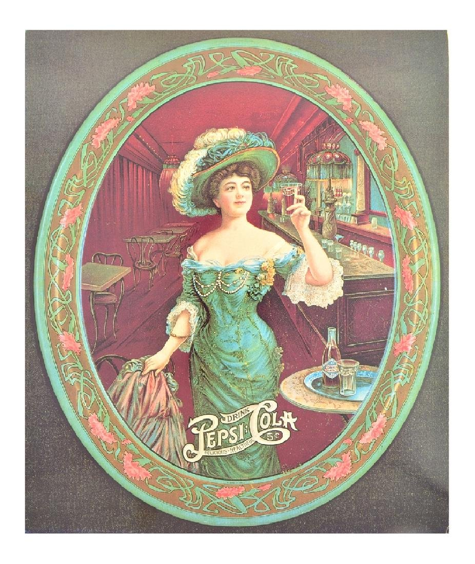 Rare Vintage Collectable Pepsi Cola Advertising Poster