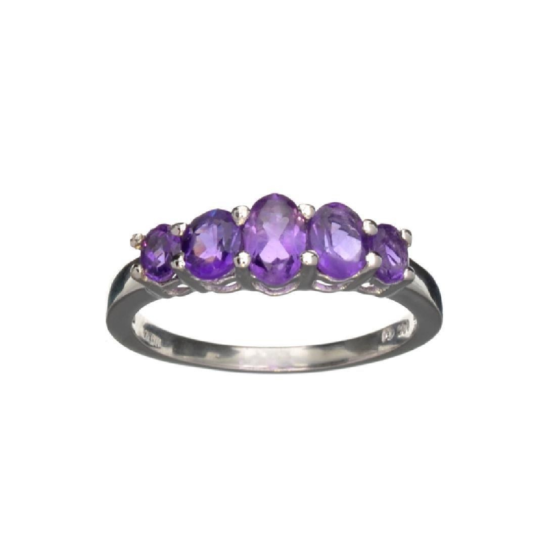 APP: 0.3k Fine Jewelry 1.43CT Oval Cut Purple Amethyst