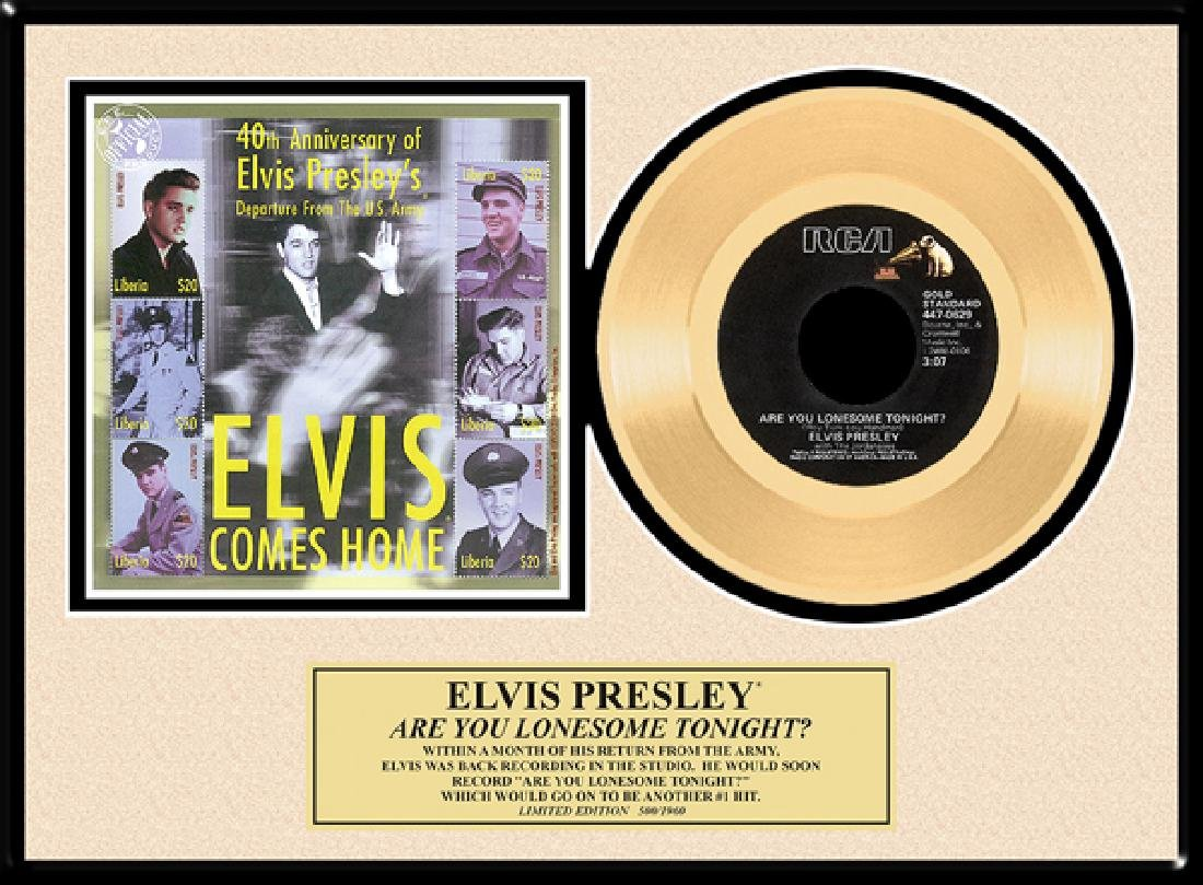 ''Are You Lonesome Tonight'' Gold Record