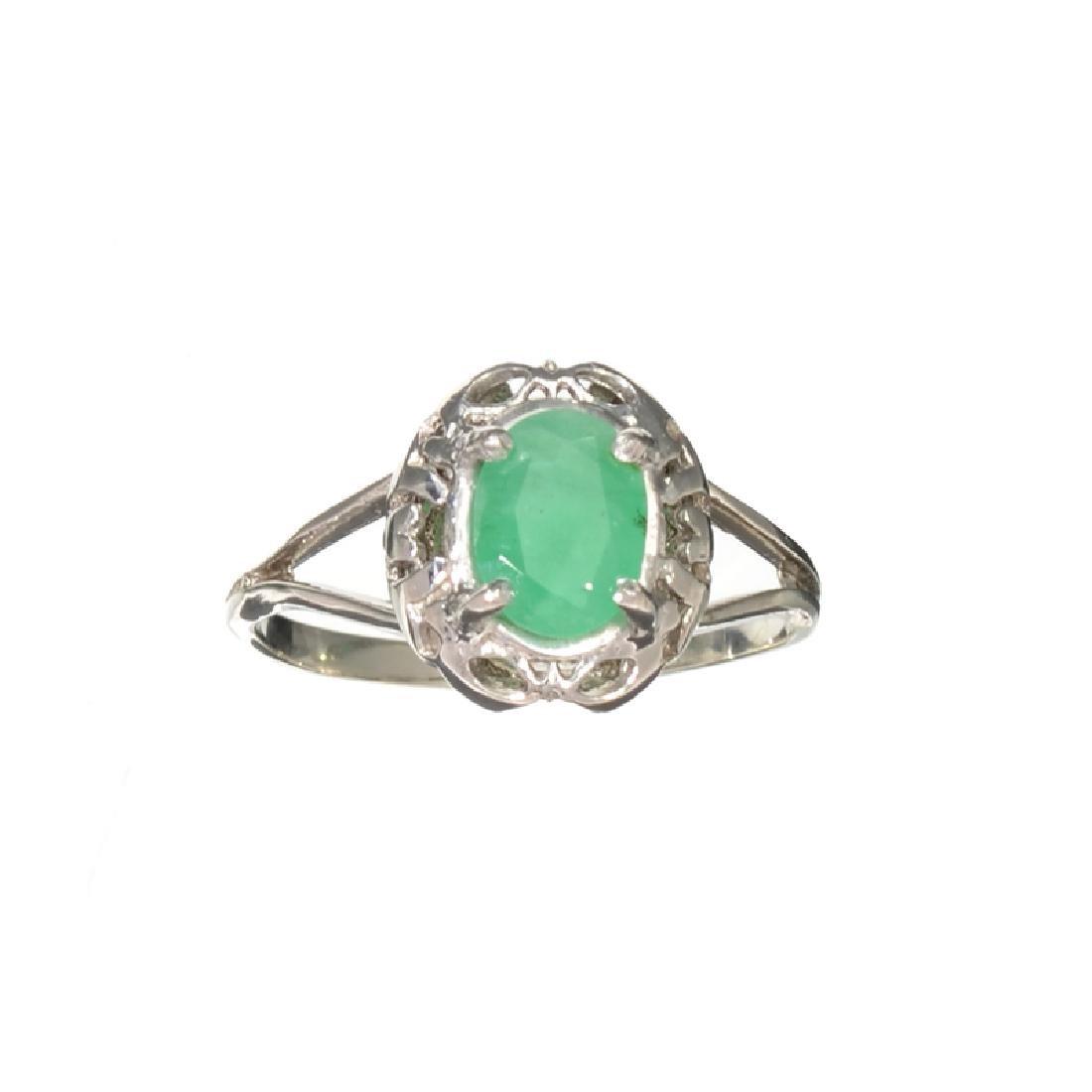 APP: 0.8k Fine Jewelry 0.96CT Green Emerald And