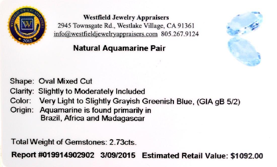 APP: 1.1k 2.73CT Oval Mixed Cut Natural Aquamarine - 2