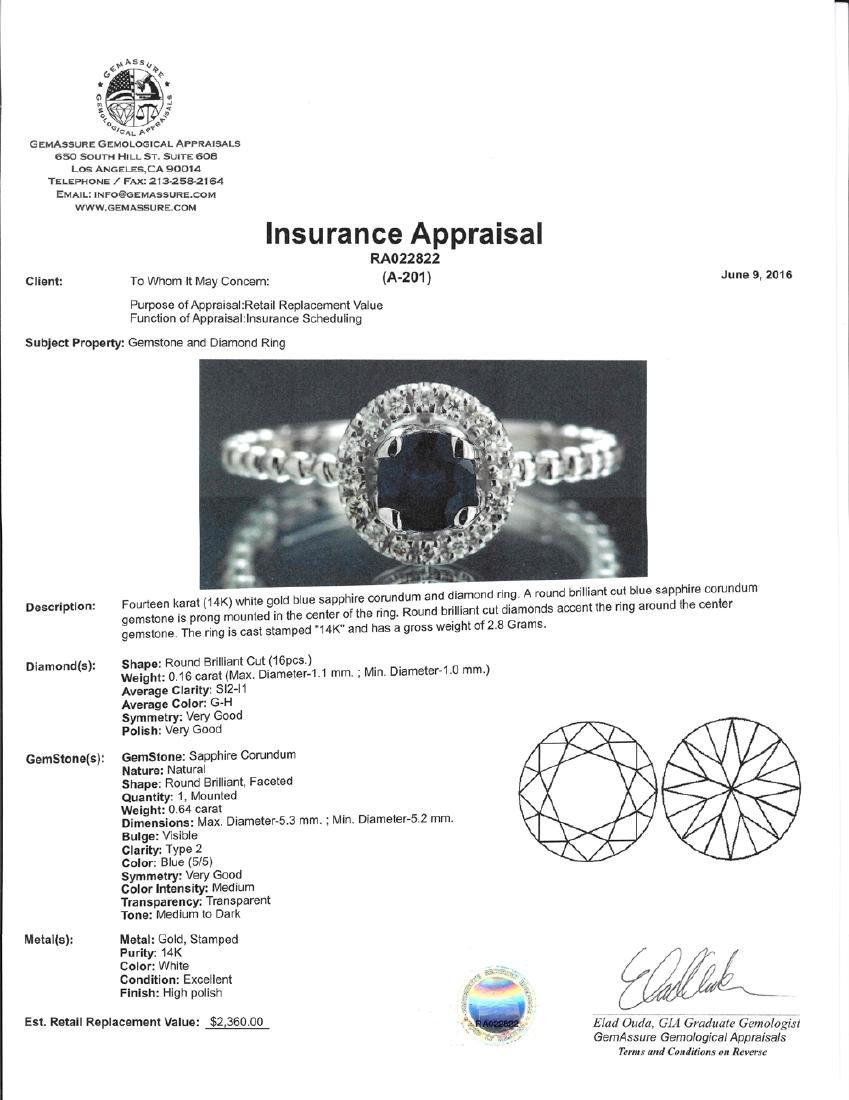 *Fine Jewelry 14KT White Gold, 0.64CT Round Brilliant - 2
