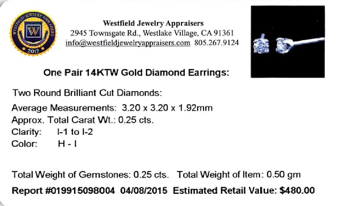 *Fine Jewelry 14 kt. White Gold, Custom Made 0.25CT - 2