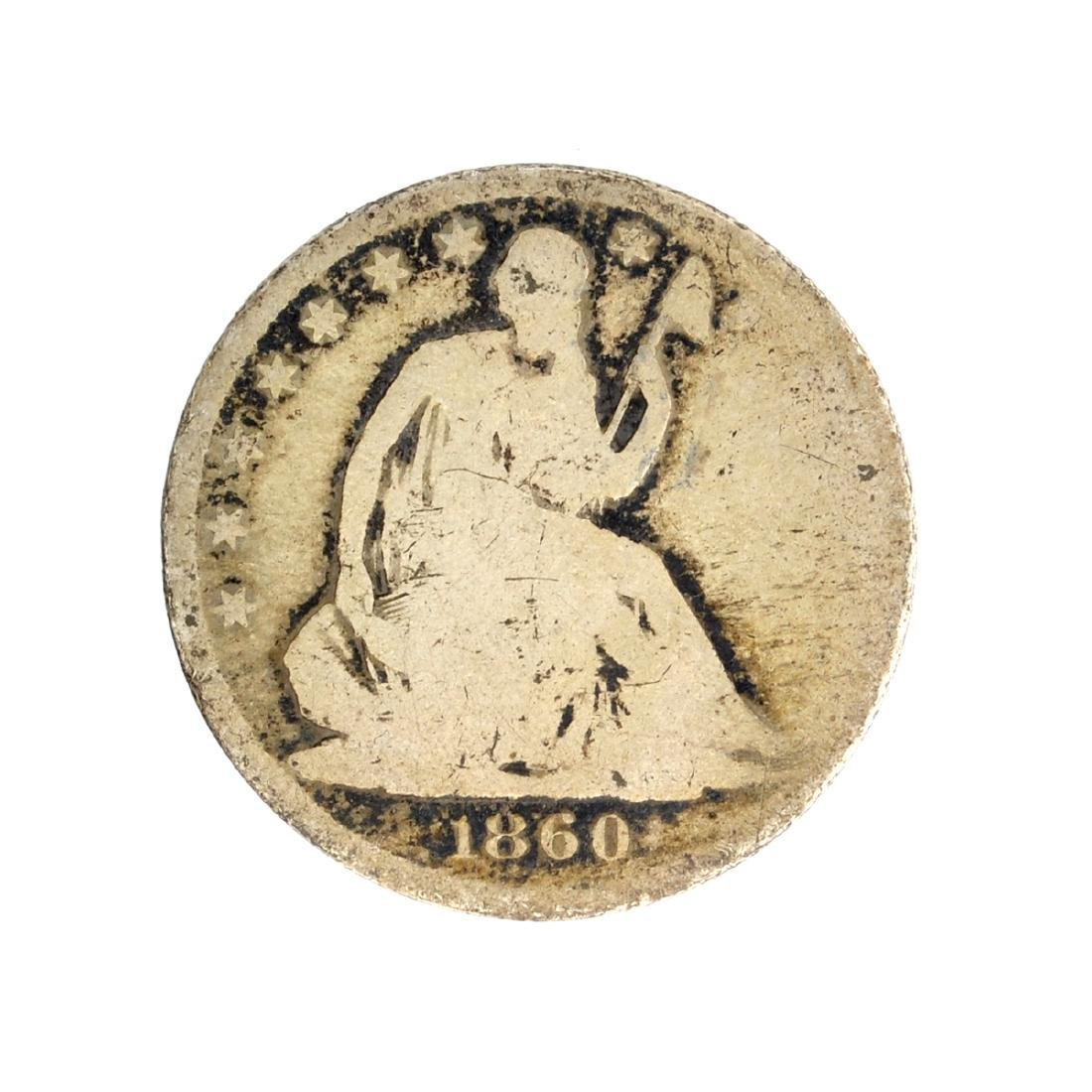 1860-O Liberty Seated Half Dollar Coin