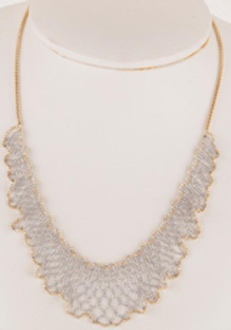*Fine Jewelry 14KT White/Yellow Gold, 16'' Extendable