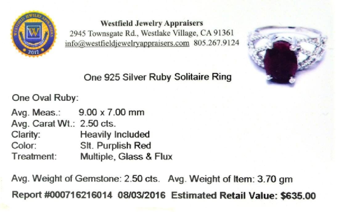 APP: 0.6k Fine Jewelry 2.50CT Oval Cut Ruby And - 2