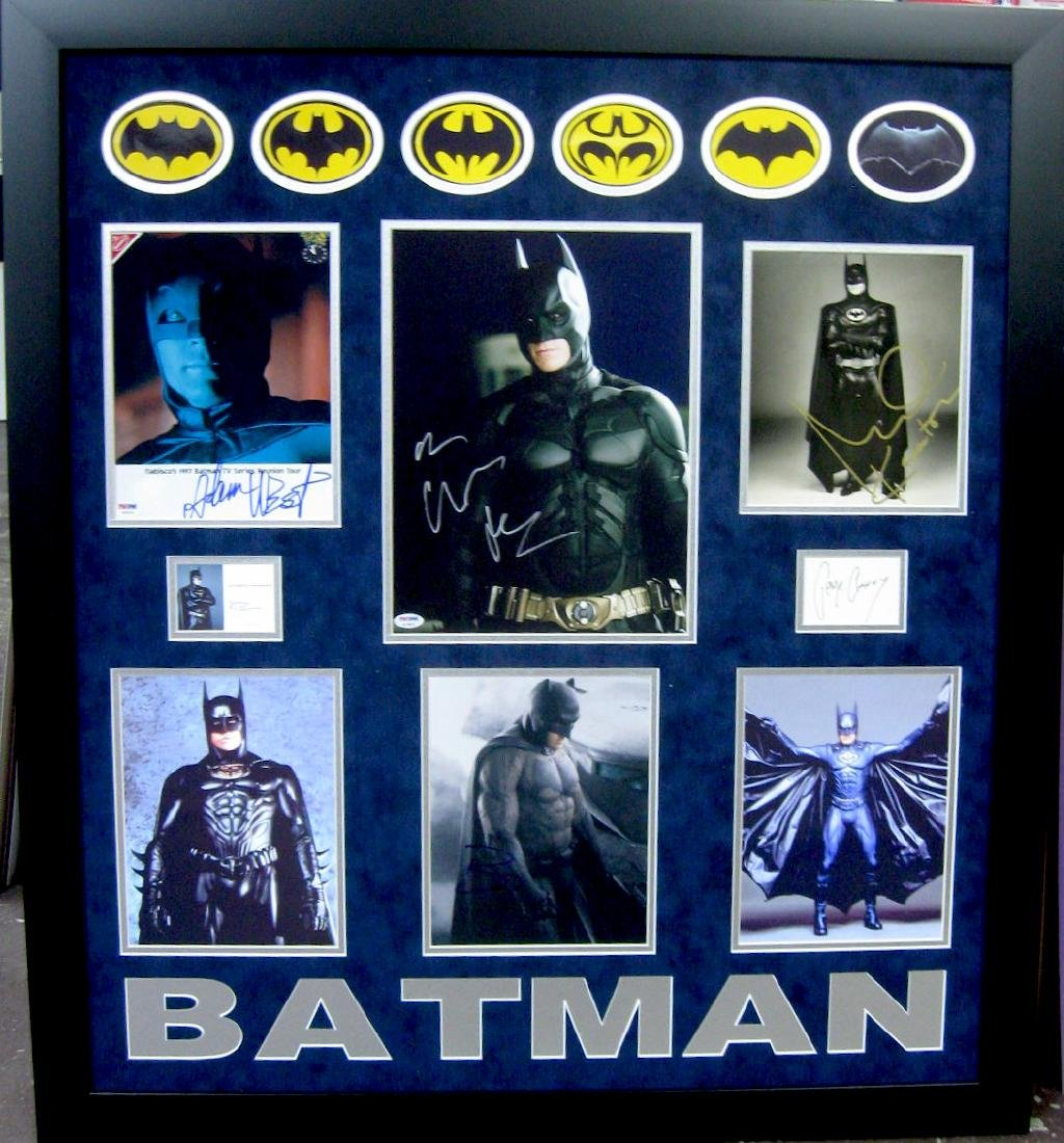 Authentic Batman Signature Collage