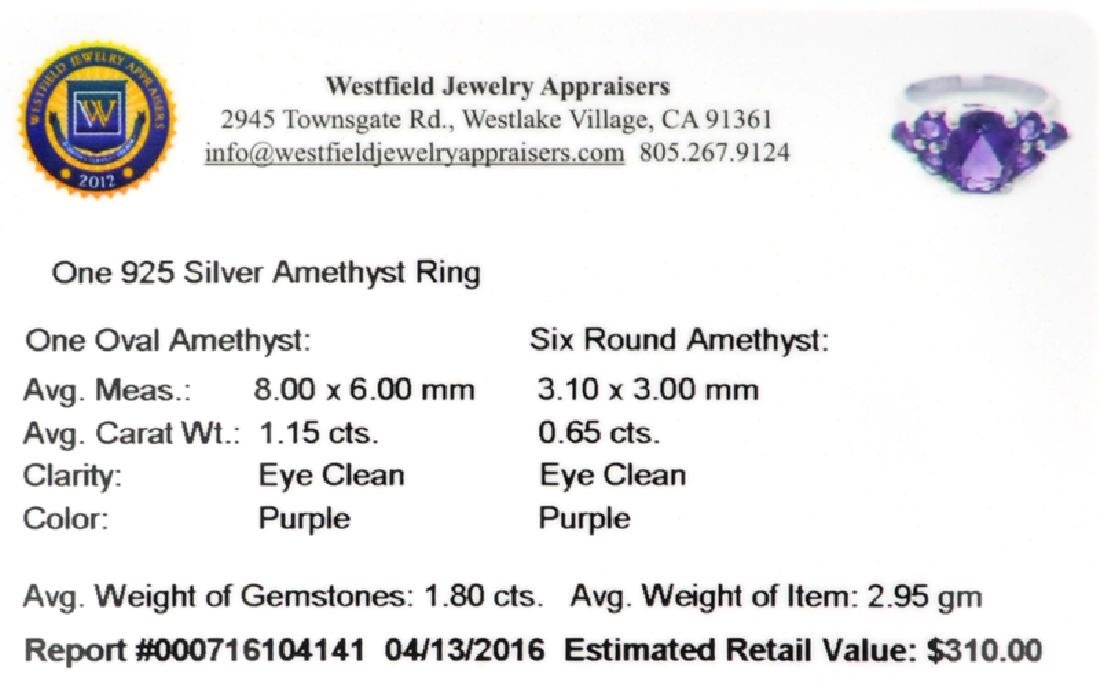 APP: 0.3k Fine Jewelry 1.80CT Oval Cut Amethyst And - 2