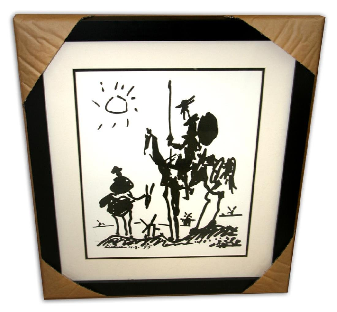 Pablo Picasso (After) 'Don Quixote' Museum Framed &