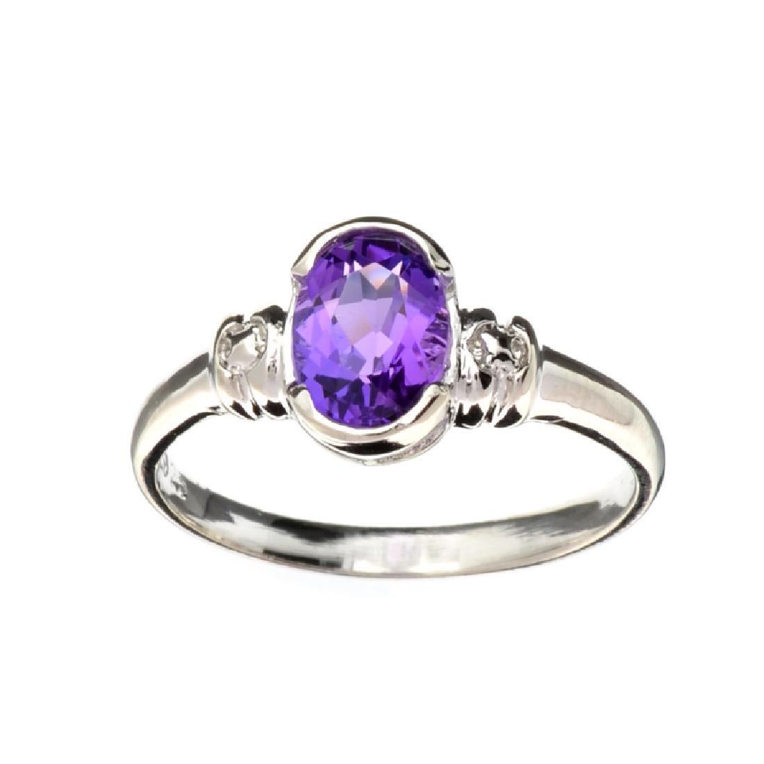 APP: 0.7k Fine Jewelry 1.20CT Oval Cut Amethyst Quartz