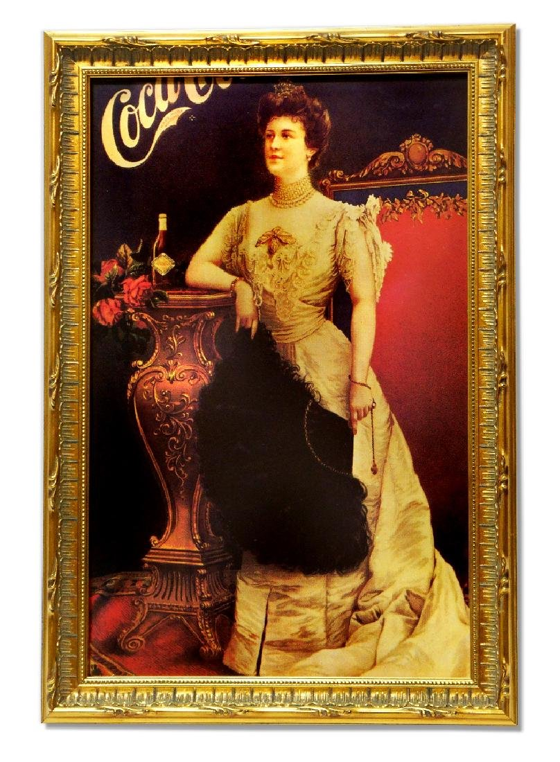 Museum Framed Coca-Coca Advertising  11.75x17.5