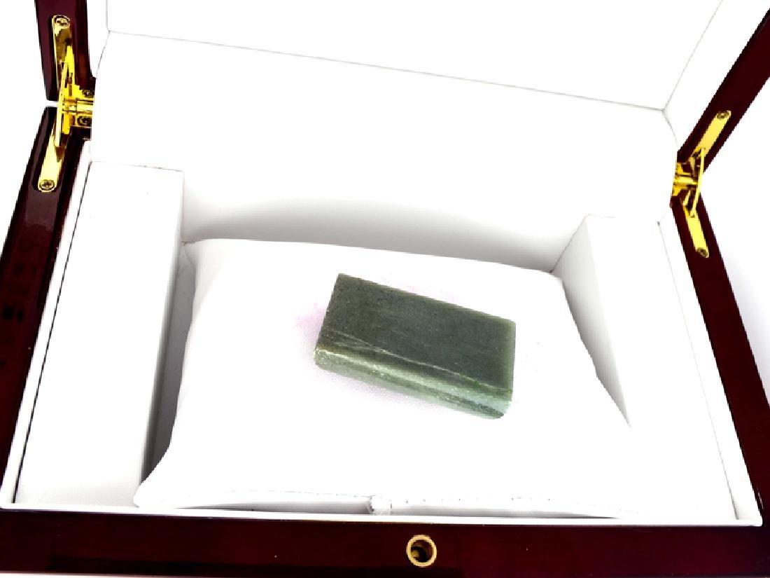 APP: 3k 200.00CT Rectangle Cut Cabochon Jade Gemstone