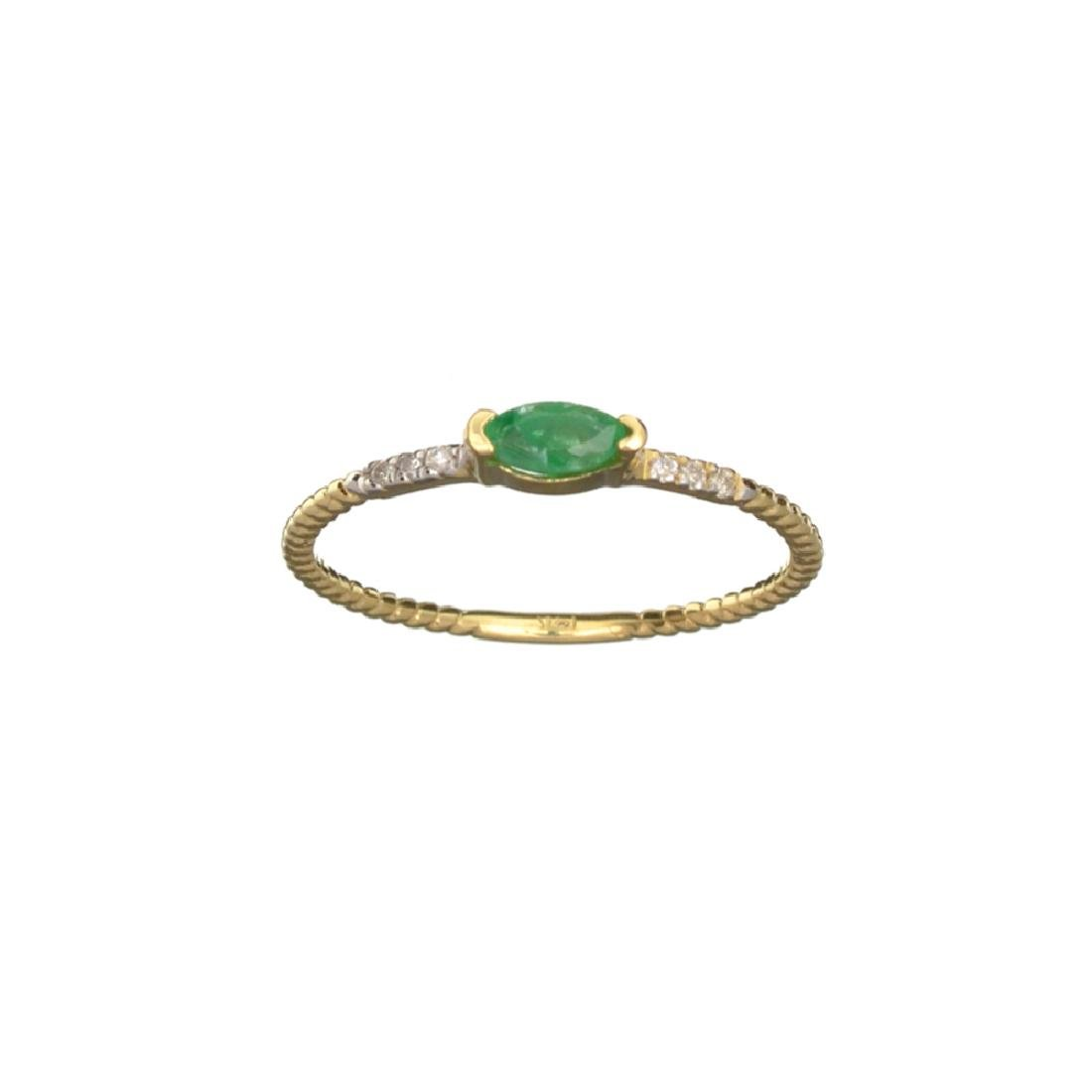 APP: 0.4k Fine Jewelry 14KT Gold, 0.14CT Green Emerald
