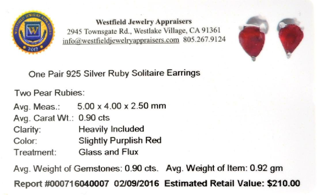 APP: 0.2k Fine Jewelry 0.90CT Pear Cut Ruby And - 2