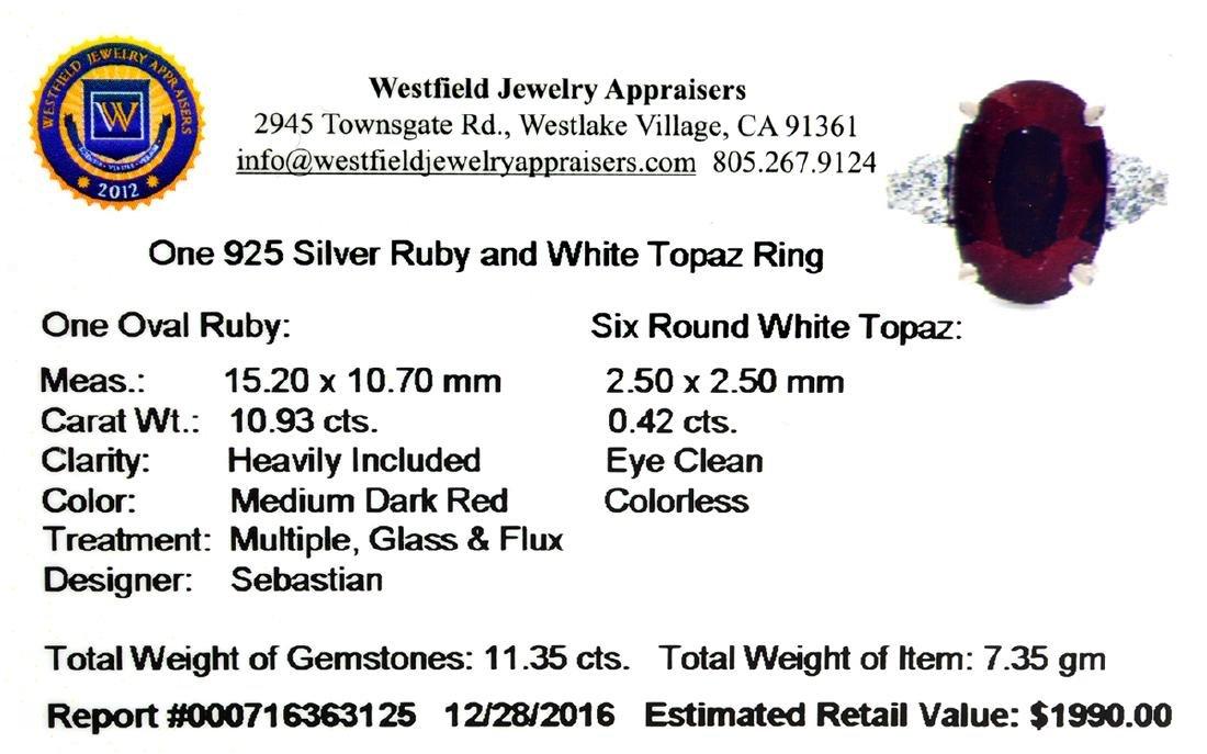 APP: 2k Fine Jewelry Designer Sebastian, 11.35CT Ruby - 2