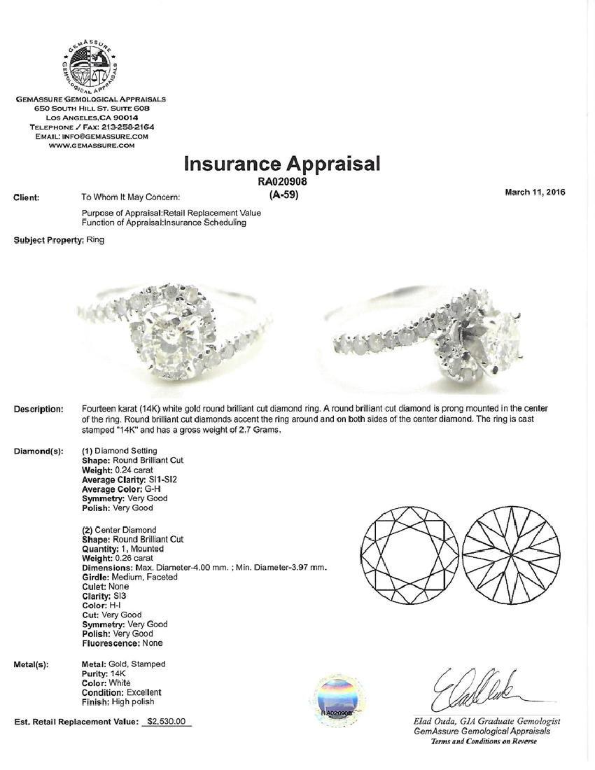 APP: 2.5k *Fine Jewelry 14 kt. White Gold, 0.50CT Round - 2