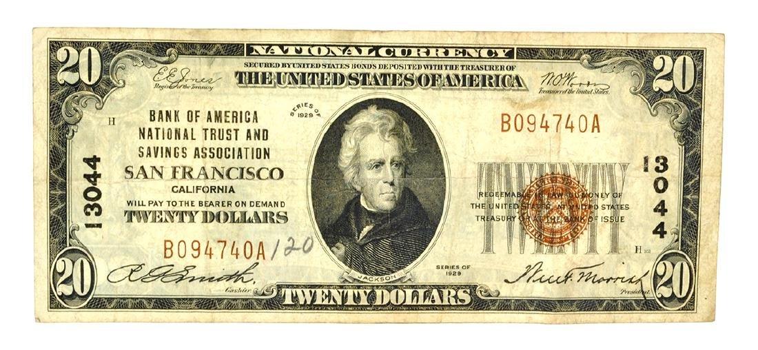 $20 BOA National Trust And Savings Association SF