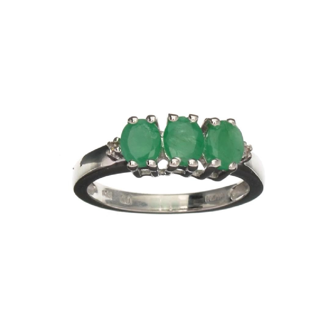 APP: 0.4k Fine Jewelry 0.95CT Oval Cut Emerald And