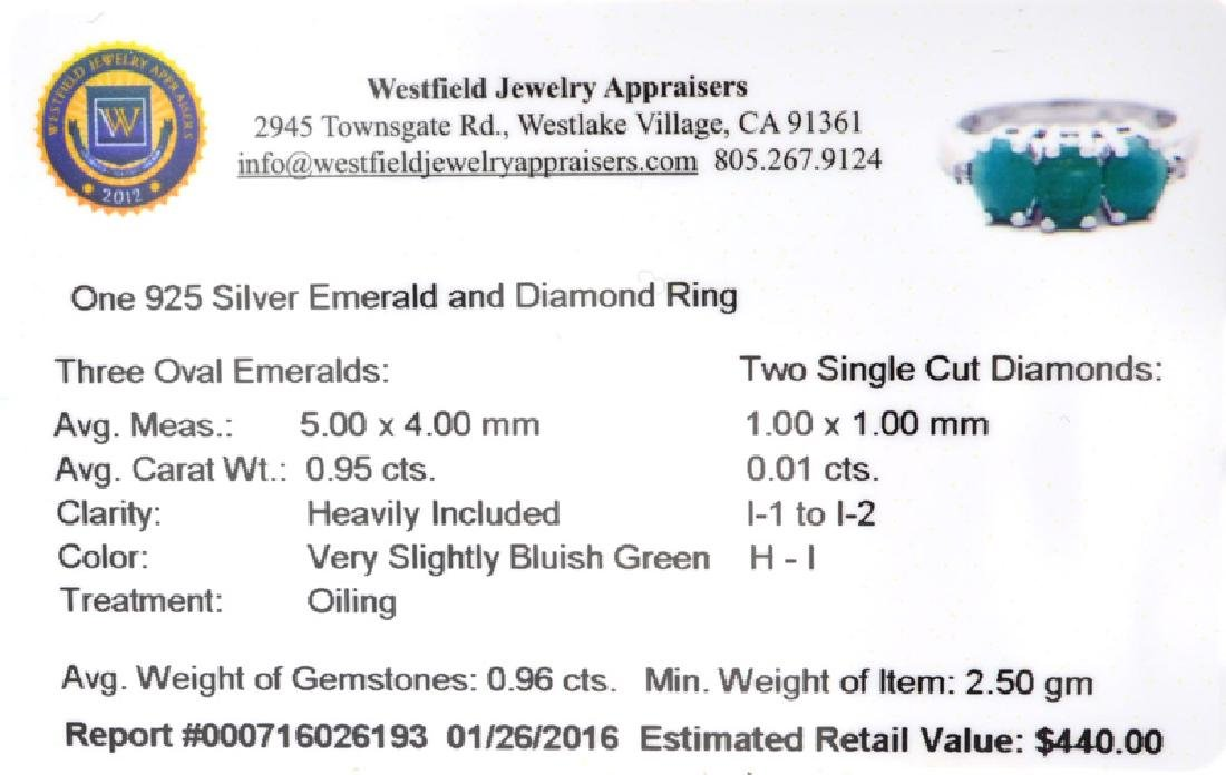 APP: 0.4k Fine Jewelry 0.95CT Oval Cut Emerald And - 2