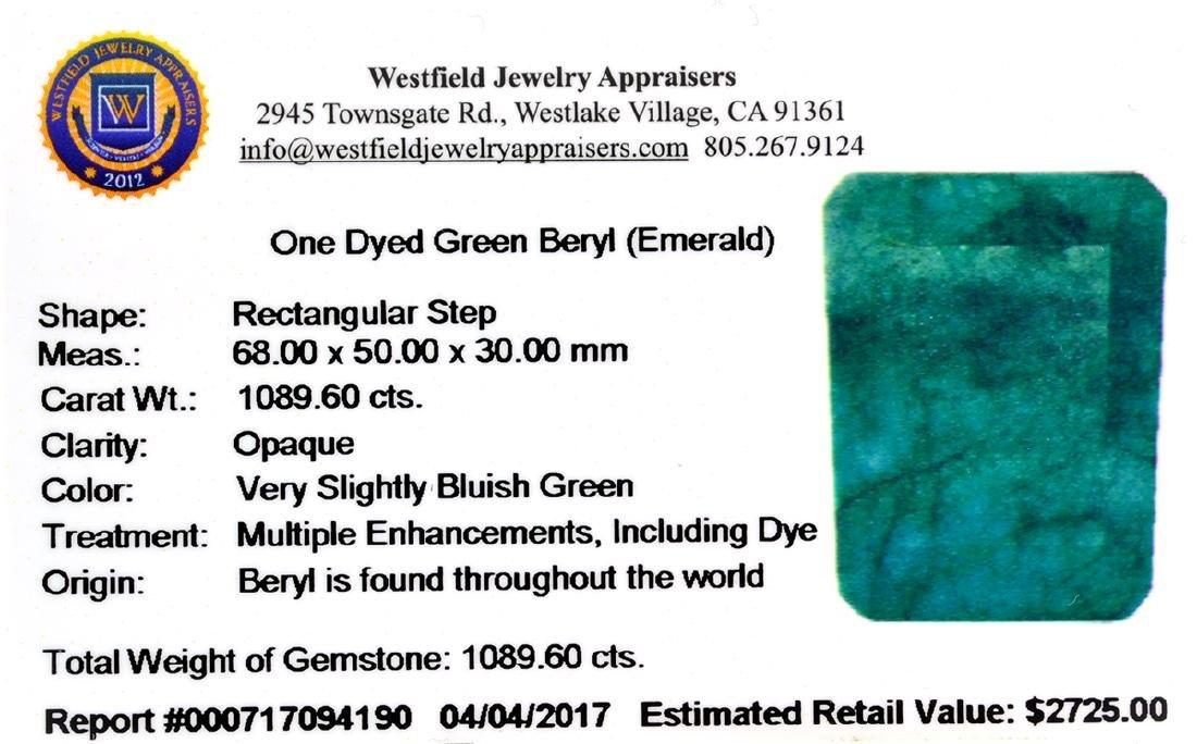 APP: 2.7k 1,089.60CT Rectangular Step Cut Green Beryl - 3