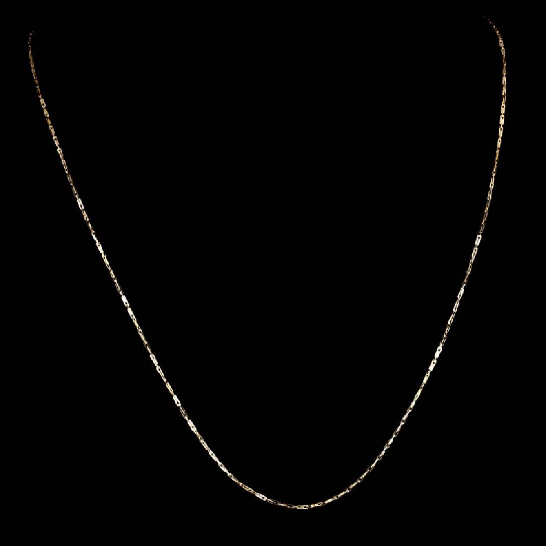*Fine Jewelry 14KT Gold, Pinsetta 1.1GM, 18'' Chain (GL
