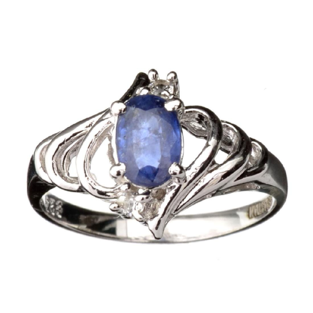 Fine Jewelry Designer Sebastian 1.10CT Blue Sapphire