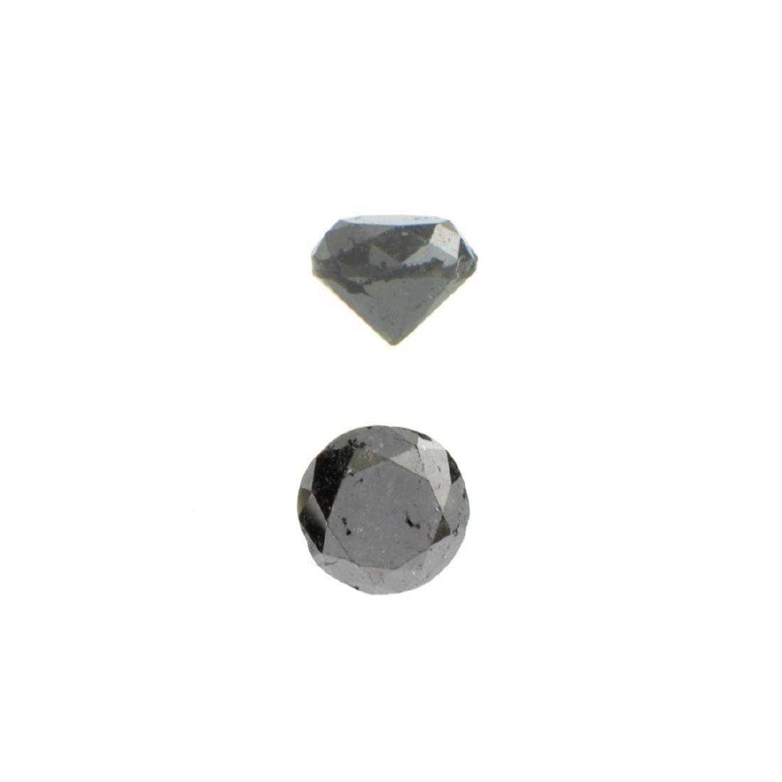 APP: 0.8k 0.97CT Round Cut Black Diamond Gemstone