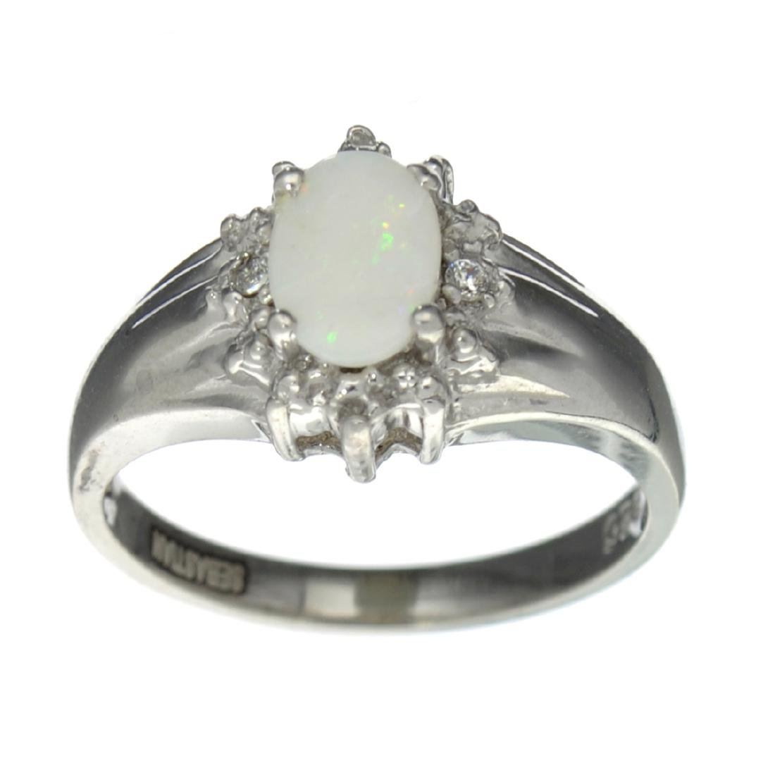 APP: 0.5k Fine Jewelry, 0.46CT Opal And White Topaz