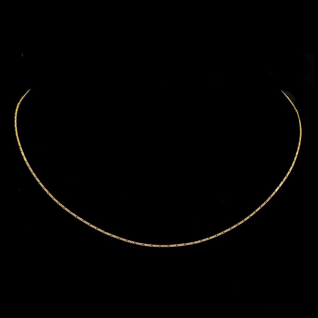 *Fine Jewelry 14KT Gold, 1.2GM. 18'' Chain Necklace (GL
